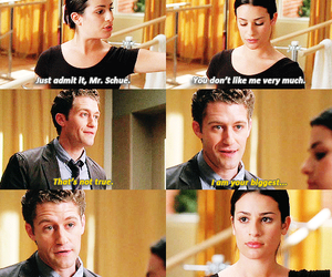 glee, will shuester, and lea michele image