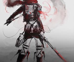 mikasa, attack on titan, and anime image