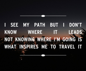 lead, path, and quote image