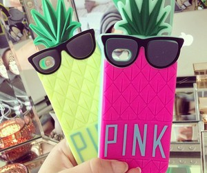 pink, phone, and phone case image