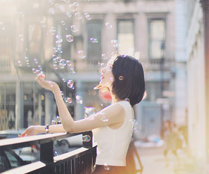 girl, bubbles, and inspiration image