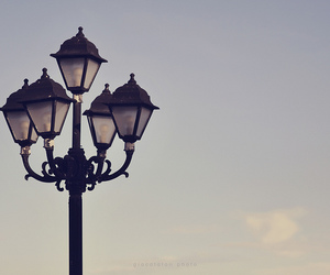 cloud, lamp post, and lamps image
