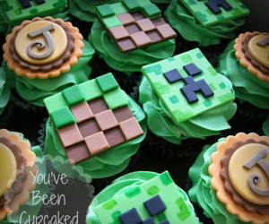 chocolate, creeper, and cupcakes image