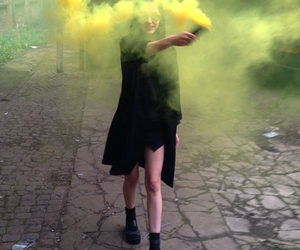 black, yellow, and grunge image