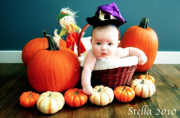 baby, thanksgiving, and pumpking image