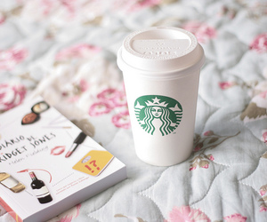 starbucks, book, and coffee image
