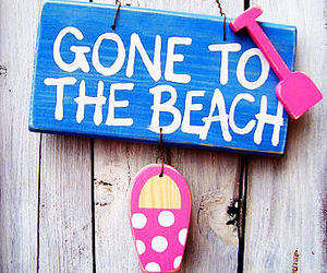 gone to the beach, beach, and summer image