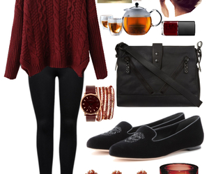 autumn, black, and girly image