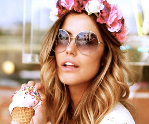 girl and ice cream image