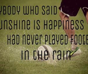 football, happiness, and rain image