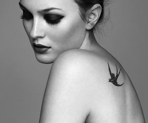 bird, girl, and tattoo image