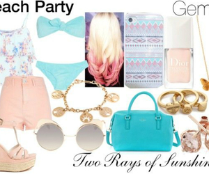 astrology, beach party, and blue image