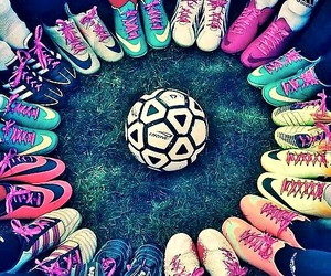 football, soccer, and girls image