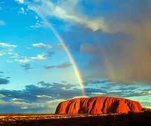 rainbow and rock image