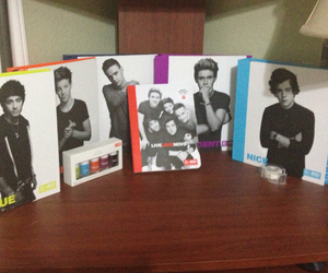 school supplies, office depot, and one direction image