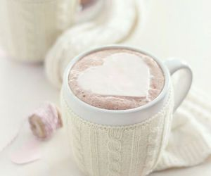 heart, winter, and drink image