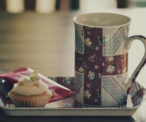 tea, cupcake, and cup image