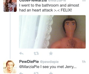Jerry, marzia, and pewds image