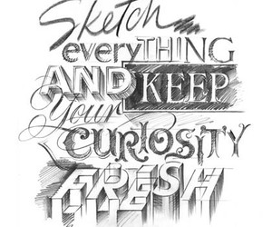 sketch, art, and quote image