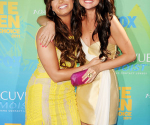 demi lovato and selena gomez image