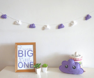baby room, cloud, and felt image