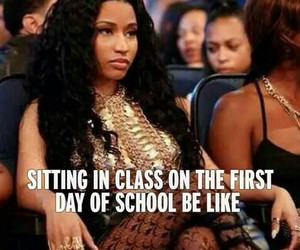 school, class, and nicki minaj image