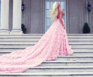 dress, blonde, and pink image