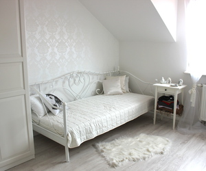 bed, inspiration, and wall image