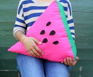 watermelon, diy, and pillow image