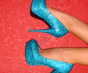 blue, heels, and lace image