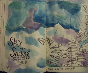 keri smith, wreck this journal, and make a paper airplane image