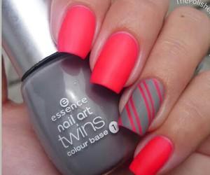 nails, grey, and nail art image