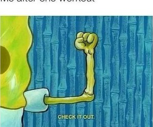 funny, workout, and spongebob image