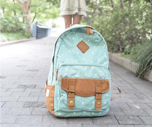 backpack, bag, and girl image
