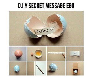 egg, diy, and love image