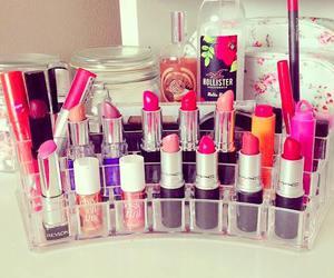 makeup, lipstick, and hollister image