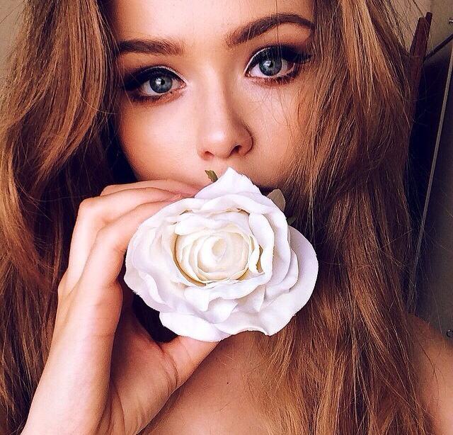 girl, make up, and model image