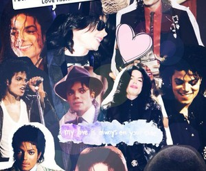 Collage, I Love You, and king of pop image