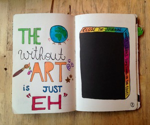 wreck this journal, art, and earth image