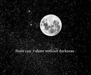 Darkness, moon, and stars image