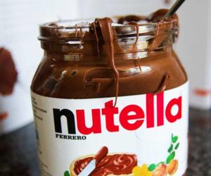 nutella, happiness, and soooo good image