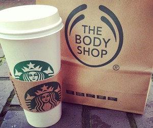 starbucks, coffee, and the body shop image