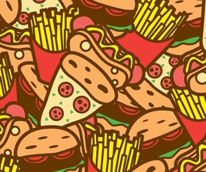 pizza, fast food, and hot dogs image