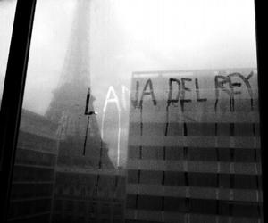 lana del rey, black and white, and paris image