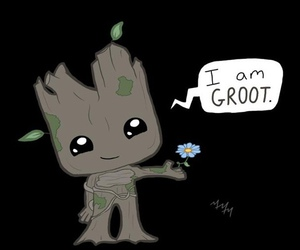 groot, Marvel, and movie image