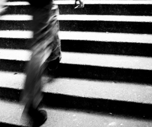 black and white, steps, and legs image