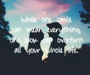 everything, one smile, and one look image