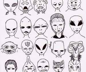 alien, grunge, and pale image