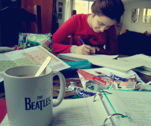 boring, studying, and the beatles image