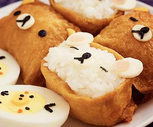 food, rilakkuma, and kawaii image